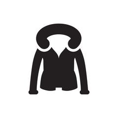 overcoat icon illustration