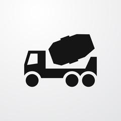 concrete mixer icon illustration