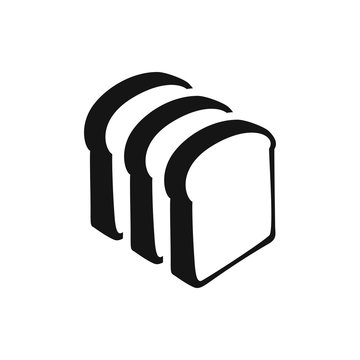 bread slices icon illustration
