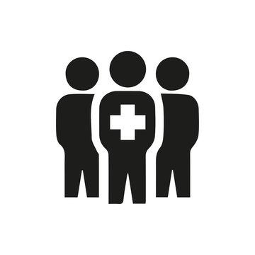 medical group icon illustration