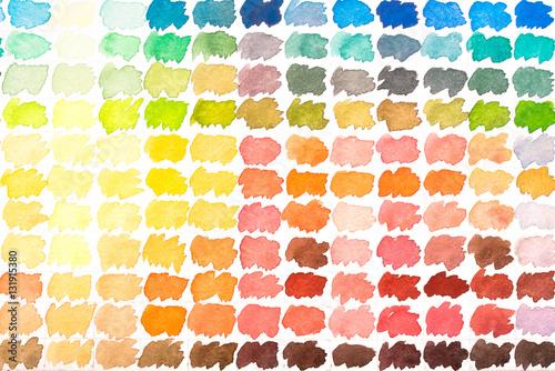 Farbpalette Mit Aquarellfarben Rot Gelb Und Orange Stockfotos Und