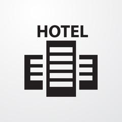 hotel icon illustration