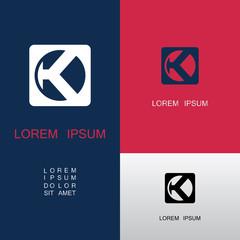 square letter K logo