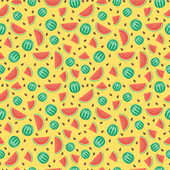 Fruits watermelon seamless patterns