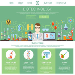 Biotechnology And Genetics One Page Template