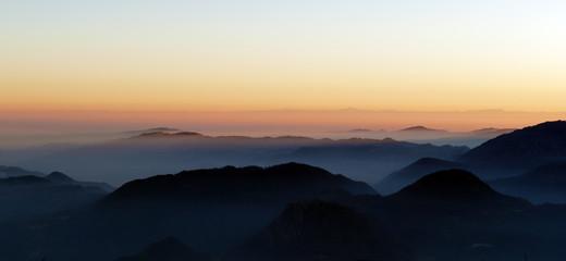 tramonto dal Novegno