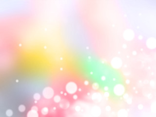 Rainbow pastel bokeh background