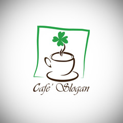 Cafe with clover logo