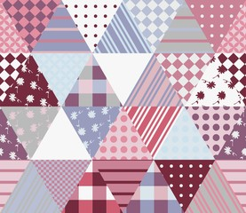 Multicolor patchwork pattern. Seamless vector illustration of quilt