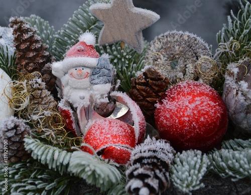 Winterliche dekoration gru karte stockfotos und - Winterliche dekoration ...
