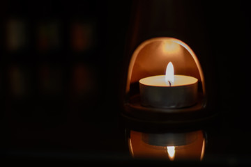 Aroma therapy with burning candle