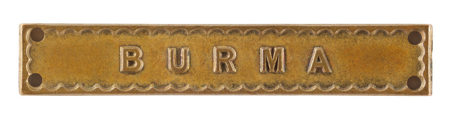 The Burma Bar or Clasp for World War Two medal