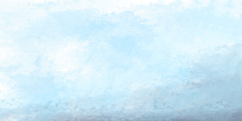 Abstract blue watercolor for background. Digital art painting.