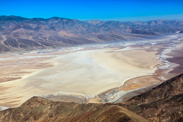 Badwater Basin from Dante's view.