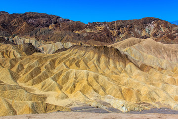 Detail geological in death valley.