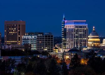 Close up of the Boise Idaho skyline