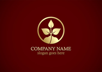 seed plant gold logo