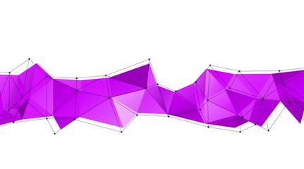 Long triangular trendy banner. Polygonal vector illustration