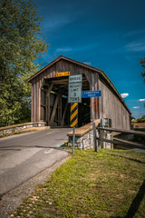 Hunsecker Mill Covered Bridge in Lancaster County