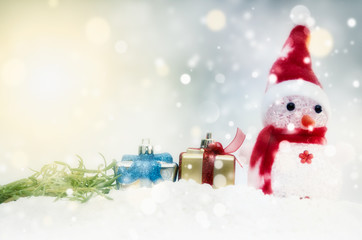 Christmas and Happy new year 2017,Gift boxes and colorful decora