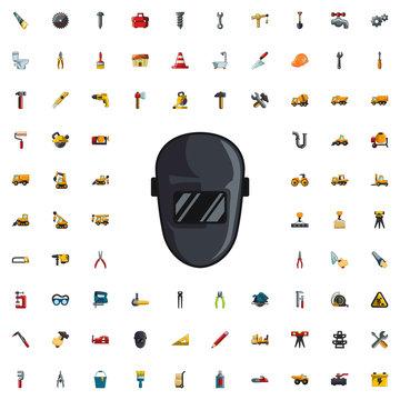 welder mask icon illustration