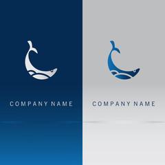 abstract fish water logo