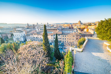 Panoramic view of Rome, Italy