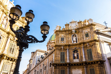Quattro Canti square in Palermo, Italy