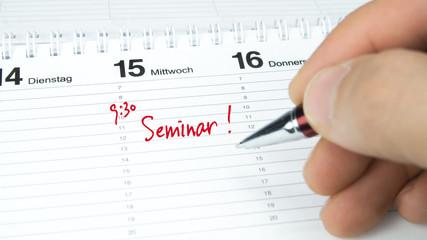 Seminar / Termin im Terminkalender / Terminplaner
