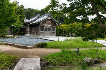 Wooden house in garden