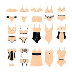 Set of underwear. Lingerie.