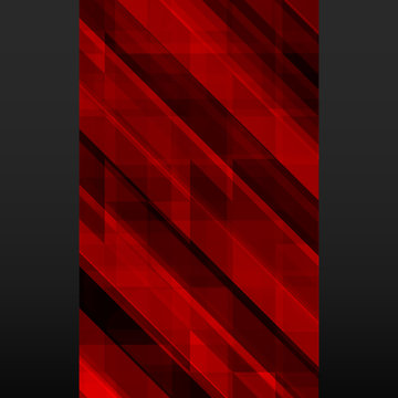 Abstract red mosaic banner on black background