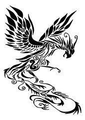 Phoenix tribal tattoo