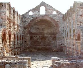 Ruined church of St Sofia in Old Town Nesebar, Bulgaria
