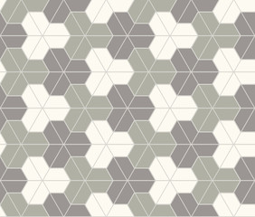 The geometric pattern with triangles, hexagons. Seamless vector background. brown and white texture