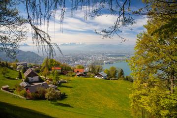 Blick vom Pfänder auf Bregenz
