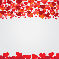 Valentines card background vector illustration