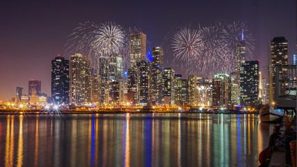 Chicago Skyline Fireworks