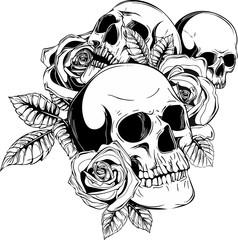 teschi con rose