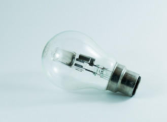 Light bulb on a white back ground