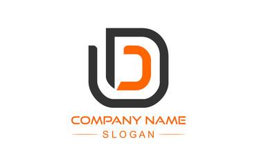 logo letter d line