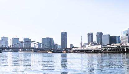 東京風景(勝どきからの築地方面)