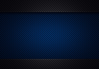 Abstract modern blue black carbon fiber textured material design