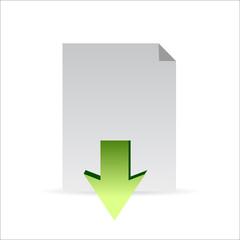 Download icon concept illustration design graphic