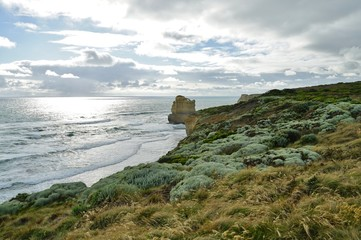 The Gibsons Steps cliffs in Port Campbell National Park off the Great Ocean Road in Victoria, Australia