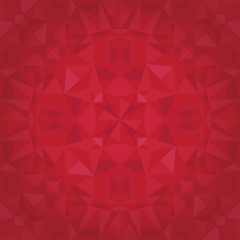 Vector Ruby Red Triangles Crystal Foil Texture Seamless Pattern. Festive and Glowing Repeat Surface Design.