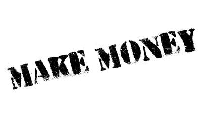 Make Money rubber stamp