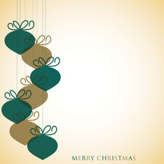 Overlay Christmas baubles in vector format.