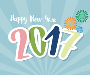 Happy New Year 2017 Greating Card Background