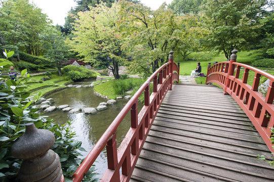 Japanese Bridge Albert Kahn garden Boulogne Billancourt (Paris).